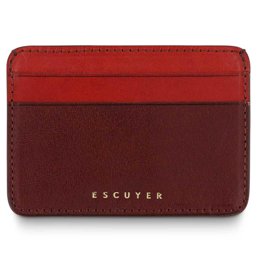 Escuyer - Cardholder - Burgundy/Red