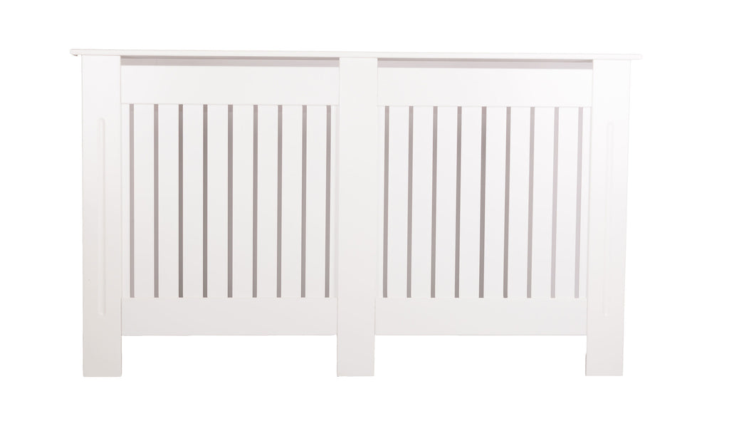 B - Medium Brooklyn White Radiator Cover