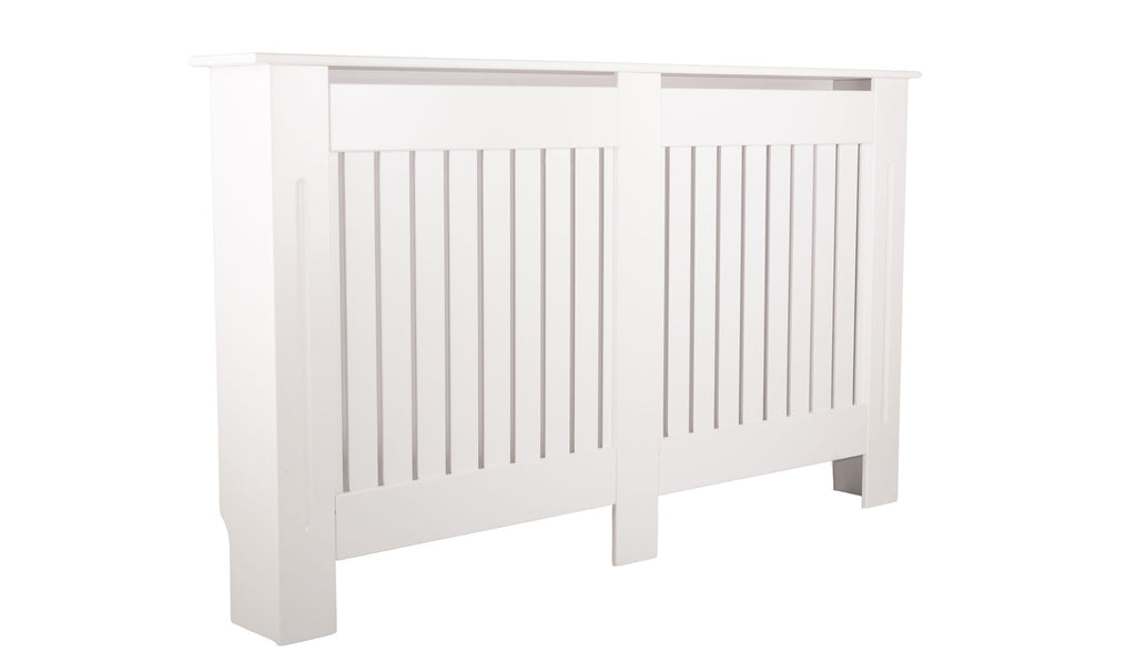 Medium Brooklyn White Radiator Cover