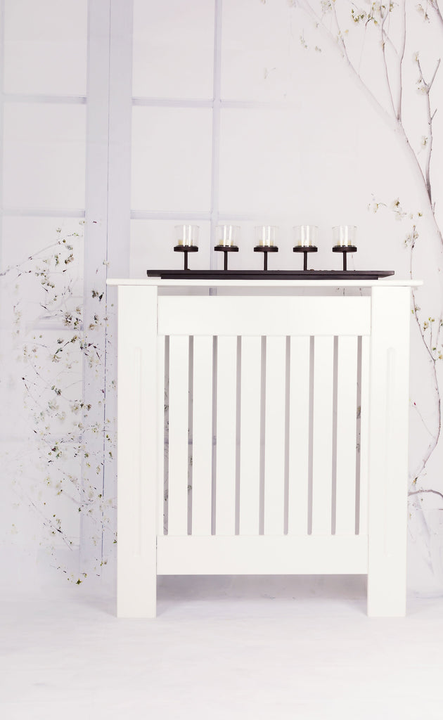 A - Small Brooklyn White Radiator Cover