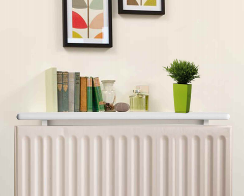 Medium White Radiator Shelf