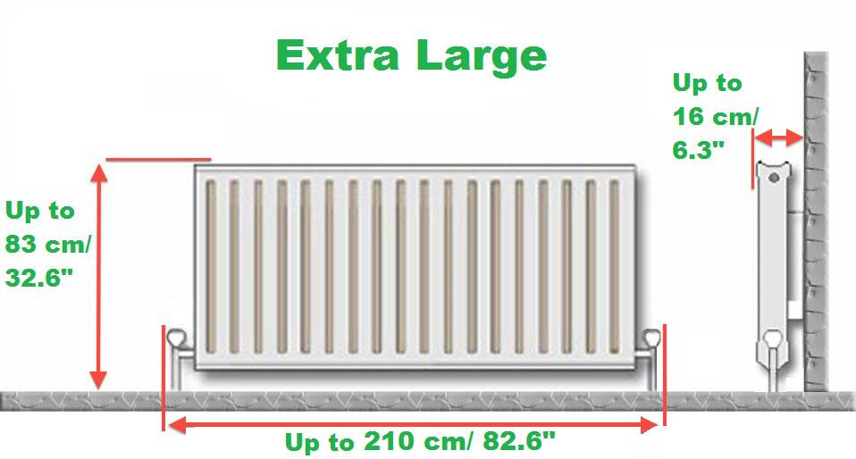 D - Extra Large Brooklyn White Radiator Cover