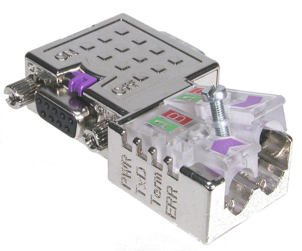 PA003135 | PROFIBUS connector with Diagnostic LEDs - 90º Easyconn PB | profichip