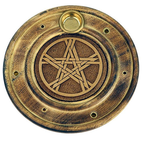 Pentacle Incense & Cone Holder