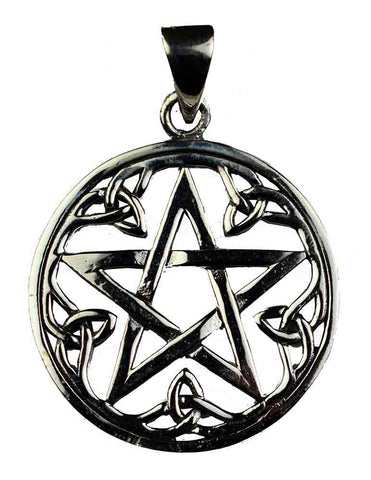 Triquetra Pentacle Pendant ~ Sterling Silver