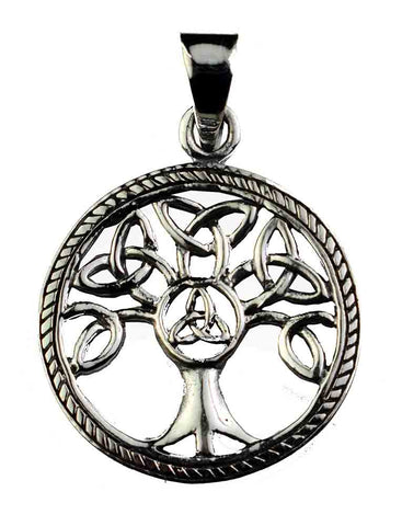 Triquetra Tree Of Life Pendant ~ Sterling Silver