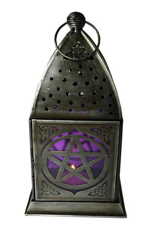 Pentacle Lantern ~ Deep Purple