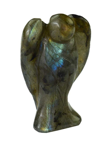 Carved Labradorite Angel - 40mm