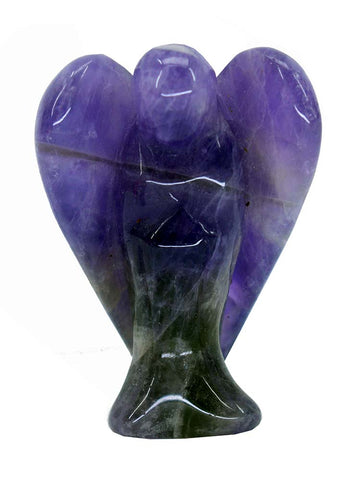 Carved Amethyst Angel - 50mm