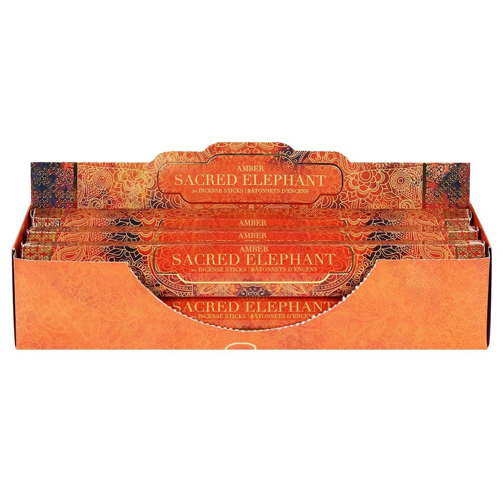 Sacred Elephant Incense Sticks ~ Amber