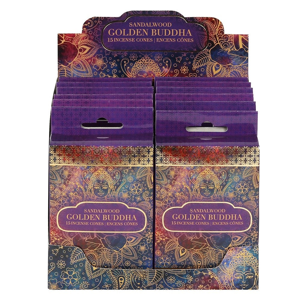 Golden Buddha Incense Cones ~ Sandalwood