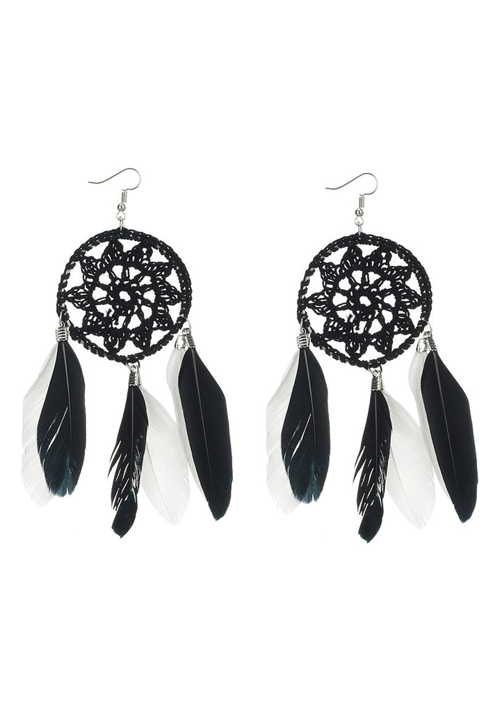 Woven Dream Catcher Earrings