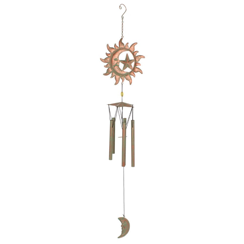 Rustic Crescent Moon Chime