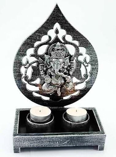 Candles, Holders & Lanterns Ganesh Tea Light Holder