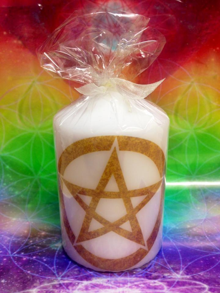 candles Pentagram Element Candle - Yellow ~ Air