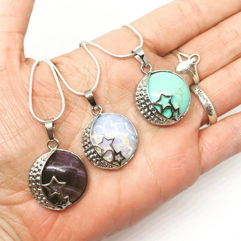 Chakra Items,Jewellery Celestial Crystal Locket ~ Choice Of Crystal