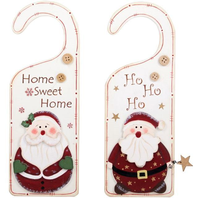 Christmas & Yule Decorations Santa Door Hanger