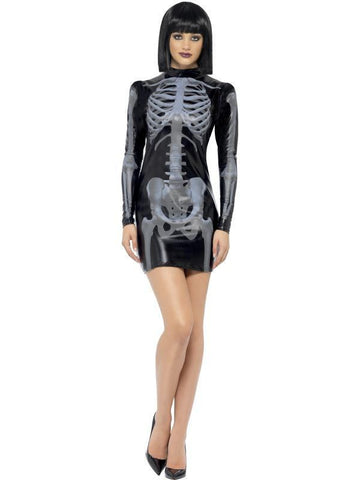 Halloween Fever Miss Whiplash Skeleton Dress