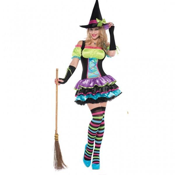 Halloween Pop Neon Witch Costume ~ Adult
