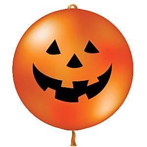 "Halloween Pumpkin Punch Ball Balloons - 24"" Latex ~ Pack Of 4"