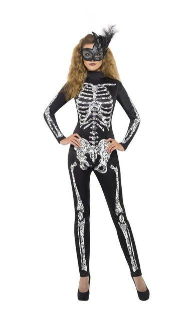 Halloween Skeleton Soleil Costume ~ Adults