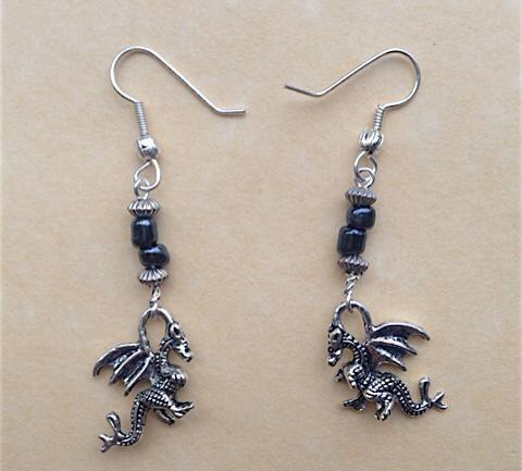Home & Outdoor Decoration,Jewellery Dragon Earrings