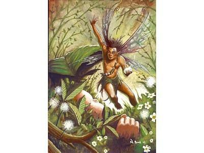 Home & Outdoor Decoration Protector of Children Fairy Card