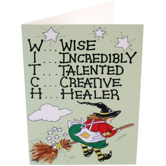 Home & Outdoor Decoration Witch Card