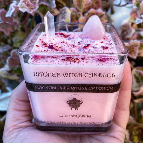 Kitchen Witch Candle ~ Love Drawing