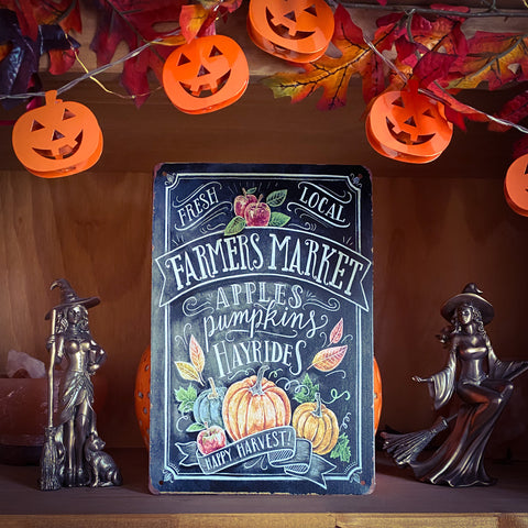 Autumn Farmers Market Tin Sign