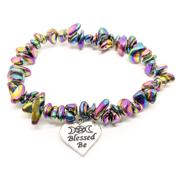Rainbow Blessings Hematite bracelet