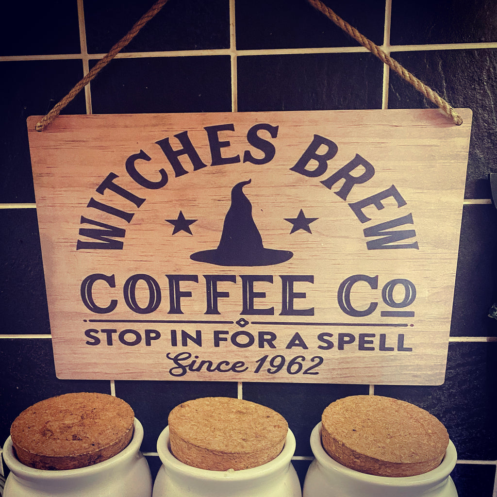 Wooden Witches Brew Sign