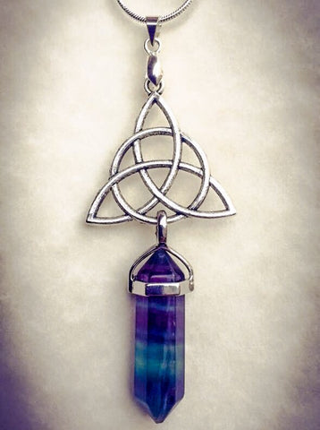 Fluorite Aura Necklace
