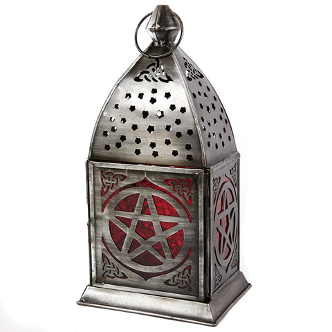 Pentacle Lantern ~ Deep Red