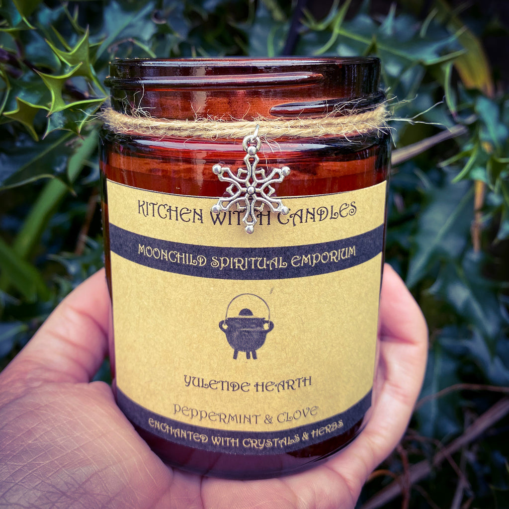 Kitchen Witch Candle ~ Yuletide Hearth