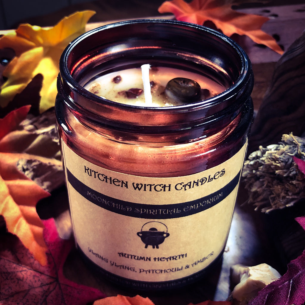 Kitchen Witch Candle ~ Autumn Hearth