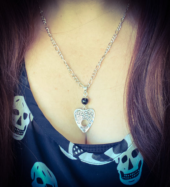 Onyx Planchette Necklace