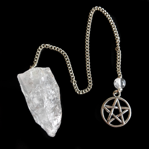 Rough Quartz Point Pentacle Pendulum