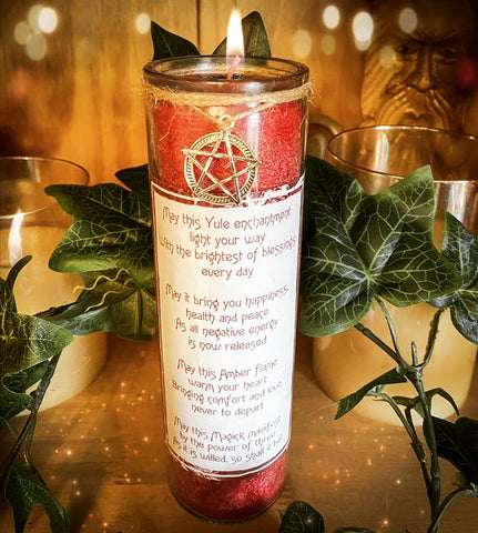 Yule Blessings Jar Candle ~ Crystal Infused