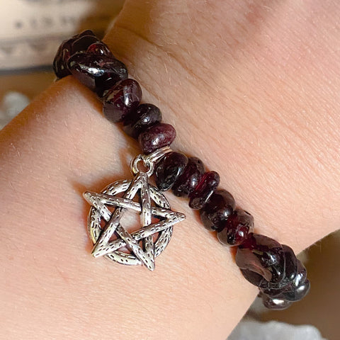 Blood Garnet Pentacle Bracelet