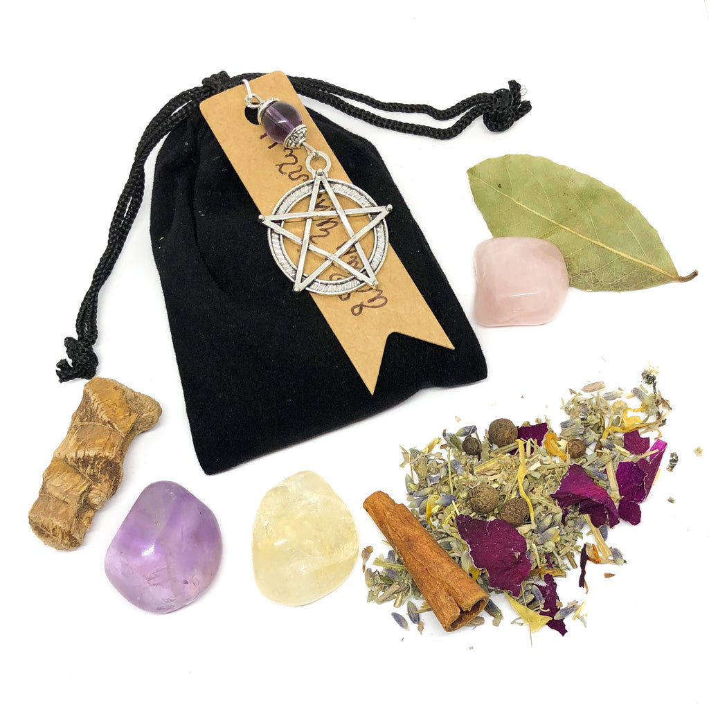 Enchanted Pentacle Charm Pouch - Choose Your Spell