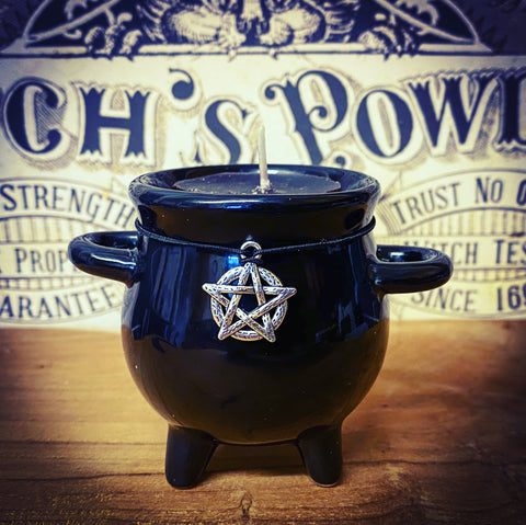 Cauldron Tea Light Holder