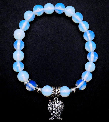 Opalite Angel Wing Bracelet