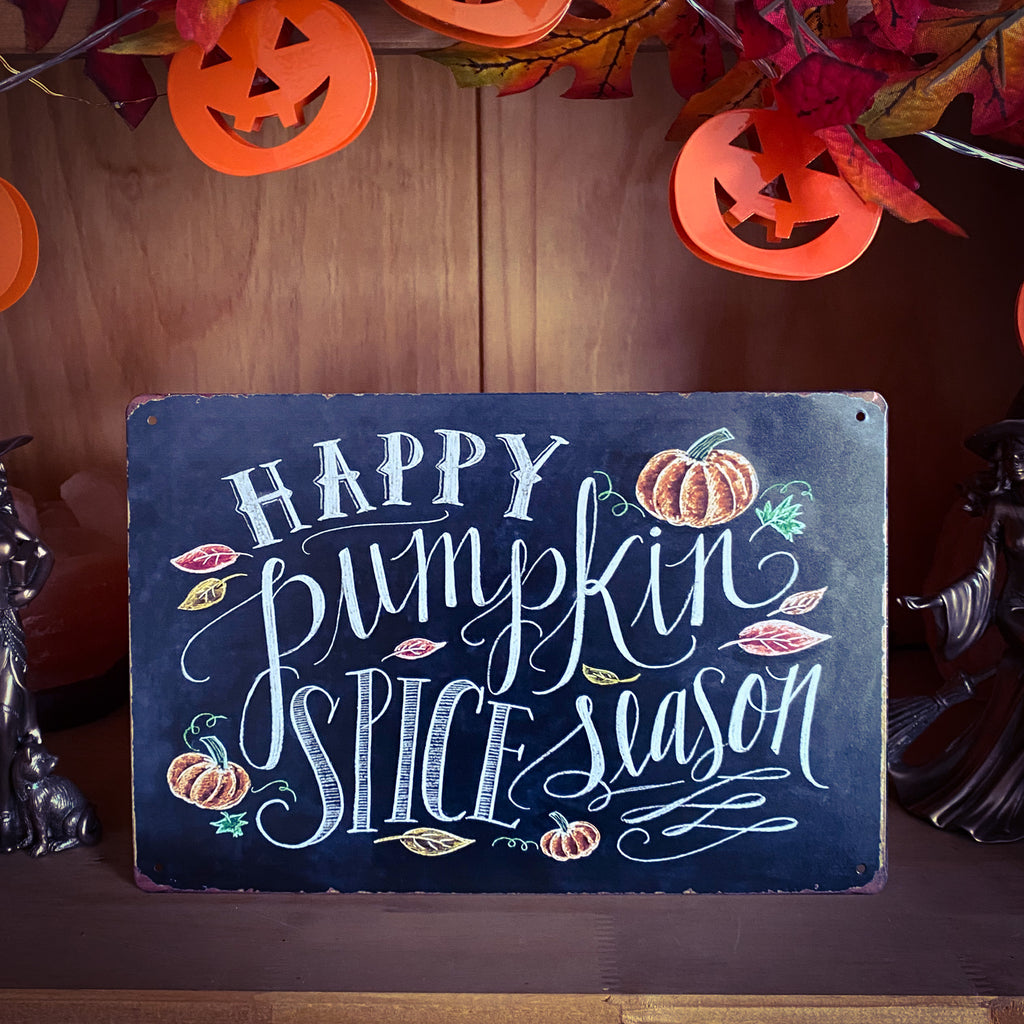 Pumpkin Spice Tin Sign