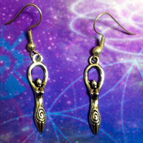 Spiral Goddess Earrings
