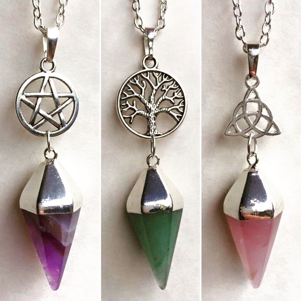 Jewellery Amethyst (Purple) / Pentacle (Star) / Chain Bewitchment Necklace  ~ Custom