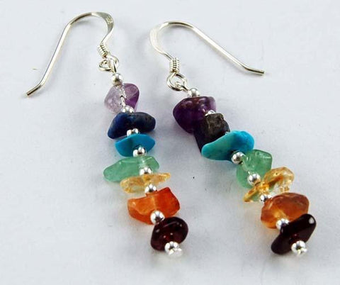 Jewellery Chakra Balancing Earrings ~ Sterling Silver
