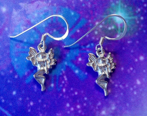 Jewellery Fairy in Flight Earrings - Sterling Silver