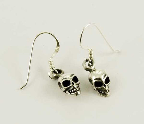 Jewellery,Home & Outdoor Decoration,Halloween Skull Drop Earrings - Sterling Silver