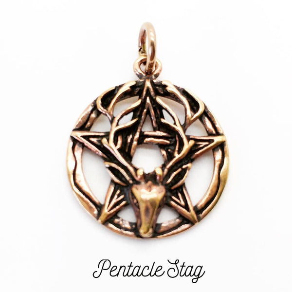Jewellery,Home & Outdoor Decoration Pentacle Stag Necklace